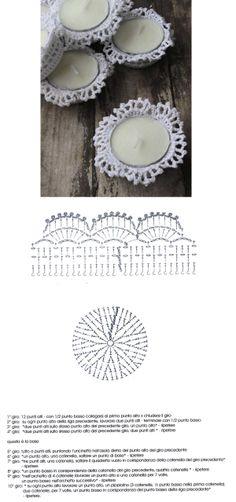 Crochet Doily Diagram, Filet Crochet, Crochet Doilies, Crochet Flowers, Crochet Stitches, Crochet Lamp, Love Crochet, Diy Crochet, Christmas Crochet Patterns