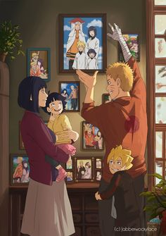 "jabberwockyface: "" My full piece for the Naruhina Fanzine!! The upside of being indecisive was getting to draw 12+ beautiful Uzumaki family moments, instead of just one. X3 Thank you so much again to..."