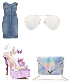 """""""denim x platforms🦄"""" by kmdudley on Polyvore featuring Moschino, Sugarbaby and Linda Farrow"""