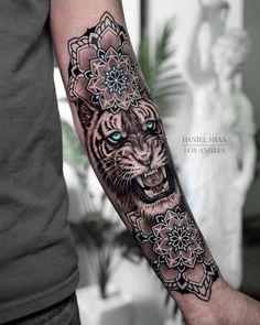 50 of the Most Beautiful Mandala Tattoo Designs for Your Body & Soul Mandala Tattoo – Fashion Tattoos Tribal Tattoos, Cool Forearm Tattoos, Finger Tattoos, Sexy Tattoos, Body Art Tattoos, Tattoos For Guys, Forearm Tattoo Sleeves, Tiger Forearm Tattoo, Tattos