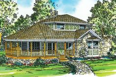 Cape Cod Style Vacation Home Plan Lakeview 10 079 By Associated