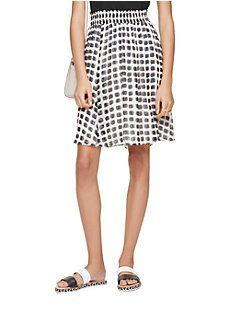 island stamp chiffon skirt by kate spade new york