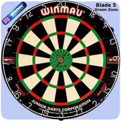 Winmau Blade 5 GZ Dartboard - 5th Generation - with Rota Lock System - Dual Core - Green Zone - http://www.dartscorner.co.uk/product_info.php?products_id=19408