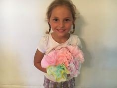 Mother's Day Flower Bouquet from Coffee Filters! Simple enough to do even do with your 5 year old! #iloveswiftshopperapp http://swiftshopper.com