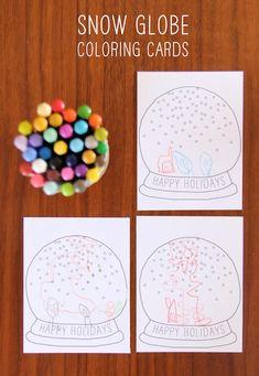 DIY Free Printable Snow Globe Holiday Card