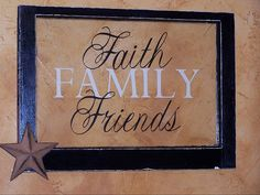 Faith Family and friends vintage window by TheVinylCottage on Etsy, $48.00