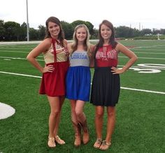 Easy game day dresses!!  Why am I not sewing more???