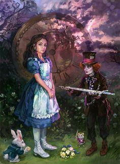 Like Tim Burton's Alice by iricolor.deviantart.com on @DeviantArt
