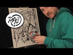 HOW TO PAINT ABSTRACT EXPRESSIONISM in ACRYLIC PAINT by RAEART - YouTube