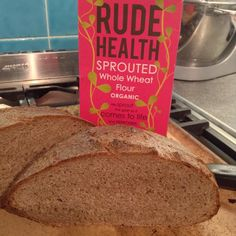 1st loaf w/ @rudehealth flour found @ #realbread uprising. Gorgeous smell quite different #bread #sproutedgrains