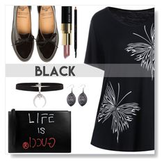 """Black Style"" by simona-altobelli ❤ liked on Polyvore featuring Gucci, Bobbi Brown Cosmetics, StreetStyle, black, LBD and casualoutfit"