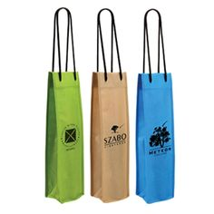 "Non-Woven Single Bottle Bag Product Description Dimensions: 4.125″ W x 3.75″ D x 15.75″ H Imprinted Area:2.75″x10″. Spot color Colors: Pear Green, Beige, Bright Blue, Black Capacity: One Bottle Type: Wine/Beer/Liquor Bags Place of origin: Viet Nam  MOQ: 1container 20"" OEM/ODM: Available"