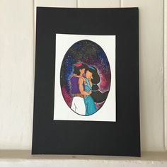 Disney's Aladdin Watercolour Galaxy Print