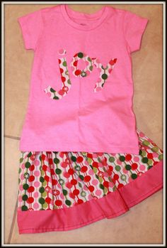 Ornament Skirt with JOY applique by girliebowsgalore on Etsy, $25.00