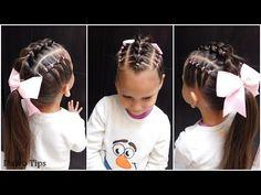PEINADO FÁCIL PARA NIÑAS CON LIGAS Y COLETA| PONYTAIL HAIRSTYLE - YouTube Baby Girl Hairstyles, Style Me, Little Girls, Hair Care, Manicure, Braids, Daughter, Fancy, Princess