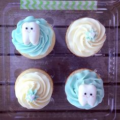 Dentist cupcakes #tooth More