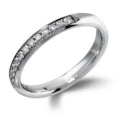 Grain Set Half Eternity Diamond Ring