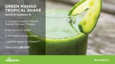 Start your St. Patrick's Day off the right way! Get your GREEN on with this Green Mango Tropical Shake!