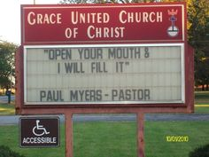Seems a little raunchy for a man of the cloth, but OK... | 27 Unintentionally Sexual Church Signs