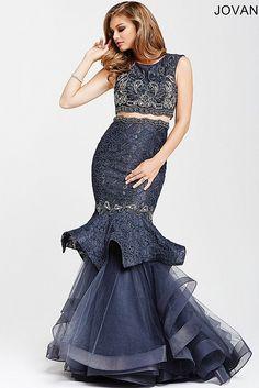 Gunmetal Mermaid Prom Dress 31553