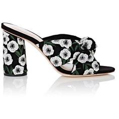 Designer Clothes, Shoes & Bags for Women High Heel Mule Shoes, Mules Shoes, Heeled Mules, Shoes Heels, Open Toe Mules, Anemone Flower, Loeffler Randall, Slip On Shoes, Classy
