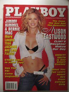 Playboy February Gift Present Original Vintage Glamour Magazine Alison Eastwood Scott Eastwood, Alison Eastwood, Now Magazine, Glamour Magazine, Male Magazine, Magazine Covers, Playboy, Rachel Green, Vintage Glamour