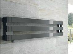 Wall-mounted chrome decorative radiator STEP H By IRSAP design Antonio Citterio, Sergio Brioschi Decorative Radiators, Bath Towel Racks, Horizontal Radiators, Towel Radiator, Towel Warmer, Decoration, Bathroom Accessories, Wall Mount, Tile Floor