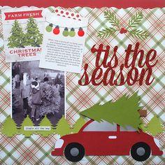 tistheseasonLO|Cari Locken for Silhouette copy Christmad traditions scrapbook layout