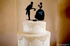 Silhouette cake toppers | weddingomania