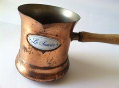 Vintage Le Saucier Copper Pot on Etsy, $12.50