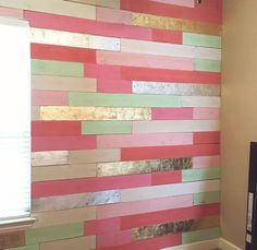Metallic Wood Plank Wall Accent Wall Feature Wall Tips on Decorating Your Baby Nursery How Exciting! Wood Plank Walls, Wood Planks, Wall Wood, Nursery Art, Nursery Decor, Bedroom Decor, Bedroom Ideas, Project Nursery, Wood Bedroom
