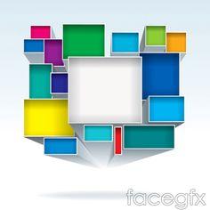 Solid color box vector