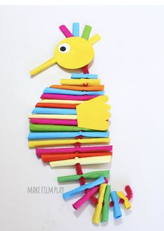 Paper Straw Seahorse – Make Film Play