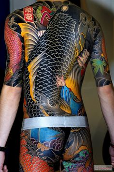 101 Cool Full Body Tattoo design for Men and Women body tattoo design - Tattoos And Body Art Body Tattoo Design, Full Body Tattoo, Back Tattoo, Body Art Tattoos, Sleeve Tattoos, Ink Tattoos, Flower Tattoos, Backpiece Tattoo, Yakuza Tattoo