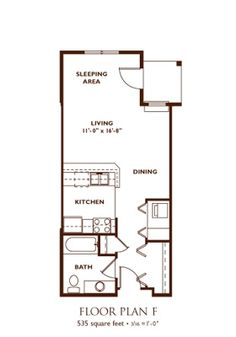 Studio Blueprints Studio Apartment Floor Plan Unit A Studio
