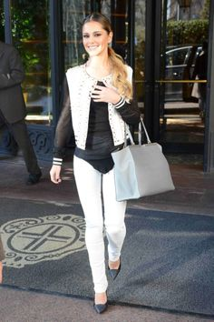Singer Cheryl Cole Was Spotted Carrying A Pearl Gray Fendi 3jours Bag During Milan Fashion Week