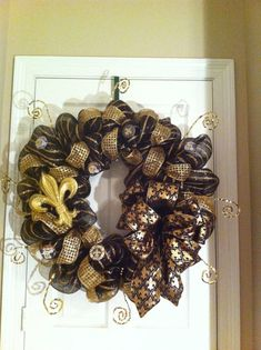 NFL/Saints Wreath All Teams Available for by LeFleurCreations, $75.00