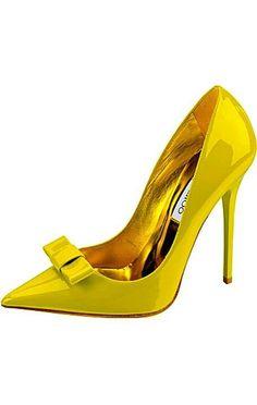 Yellow & gold Jimmy Choo pumps