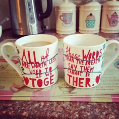 Our Rob Ryan couples mugs! Wedding gift. Only work together. Beautiful ...