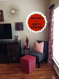Decorating ideas on pinterest decorating around tv - Empty corner decorating ideas ...