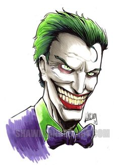 Purchase My Joker original artwork and get a free 11x17 print of Batman's greatest villains!
