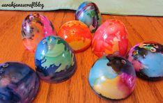 Sarah Jane's Craft Blog: Blown Alcohol Ink Plastic Easter Eggs