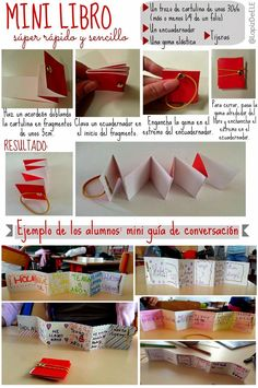 Mini libro súper fácil. Spanish Lessons, Teaching Spanish, Teaching English, Art Lessons, Spanish Classroom Activities, Bilingual Education, Teacher Tools, Too Cool For School, Continuing Education