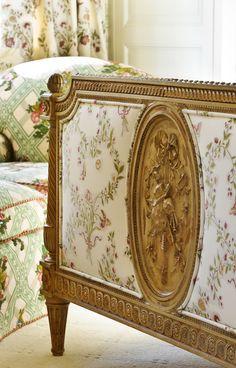 Antique French Footboard www.lindafloyd.com