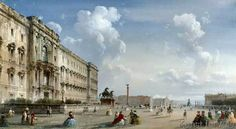 Carlo Bossoli - Ansicht des königlichen Schlosses zu Berlin in westlicher Richtung