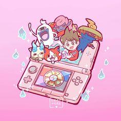 """🏮 Even if it's not an """"old-school"""" game, I really appreciated it! Yo Kai Watch 2, Anime Manga, Anime Art, Watch Wallpaper, Pokemon Fan Art, Pokemon Shop, School Games, Kawaii Art, Aesthetic Art"""