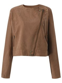 Women Casual Tassels Zipper Solid Color Long Sleeve Coat