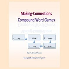 Compound Words Worksheet - Compound Words For Kids High School Writing, Compound Words, Making Connections, Educational Games For Kids, Word Sorts, Rhyming Words, Dyslexia, Dysgraphia, Word Games