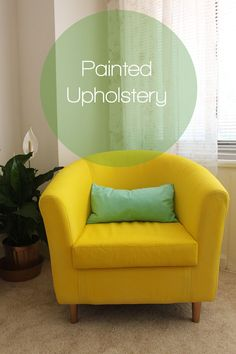 IKEA Hack: Painted Upholstery | Why Don't You Make Me