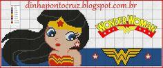 Wonder Woman x-stitch Cross Stitch Baby, Cross Stitch Charts, Cross Stitch Patterns, Bead Loom Patterns, Beading Patterns, Perler Beads, Nerd Crafts, Wonder Woman, Plastic Canvas Crafts